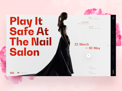PlayFair typography photo fashion slide design book news interface web