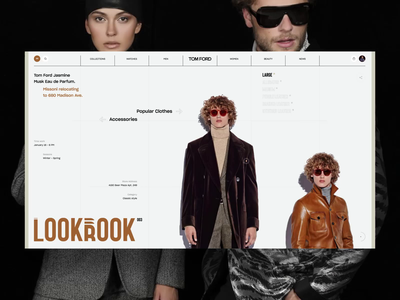 Tom Ford shop clothes photo fashion slide design news interface web