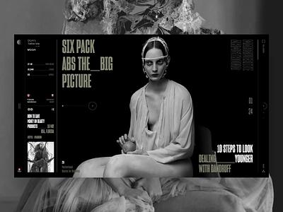 Don't Take Me to the Moon travel typography ui fashion slide design book news interface web photo minimal
