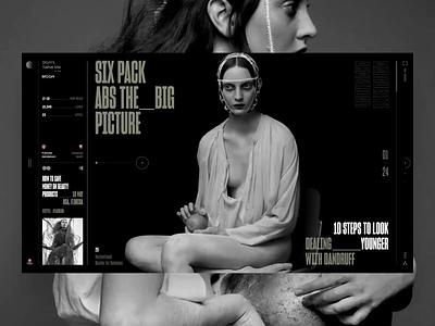 Don't Take Me to the Moon minimal photo web interface news book design slide fashion ui typography travel