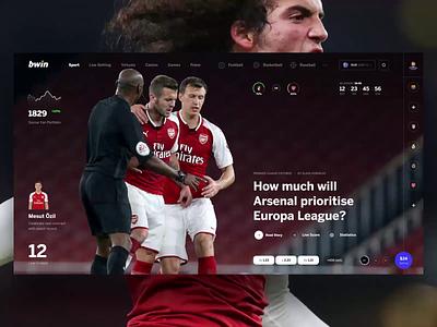 bwin footbal dashbaord bookmaker bet betting sport tips ui interface design web news