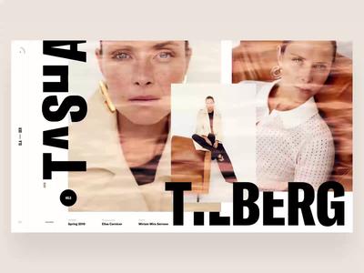 Tasha sketch typographic video animation minimal photo web interface news book design slide fashion ui typography travel