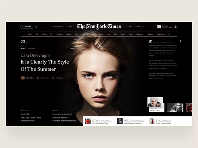 News newspaper movie business apple mountains web landing page fashion design scrolling typography page video web interface news book design fashion slide unsplash