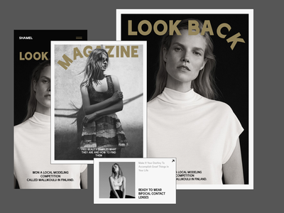 Shamel gallery art article typography minimal photo fashion design landing page news web interface