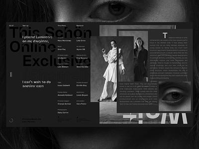 Shamel animation video 3d typography minimal ui photo fashion slide book design news interface web