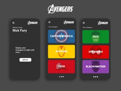 Avengers App Concept