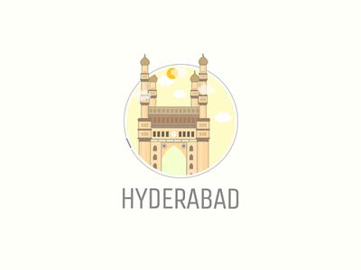 Hyderabad City Illustration charminar illustration hyderabad illustration adobe illustrator adobe india illustrator illustration charminar hyderabad city hyderabad