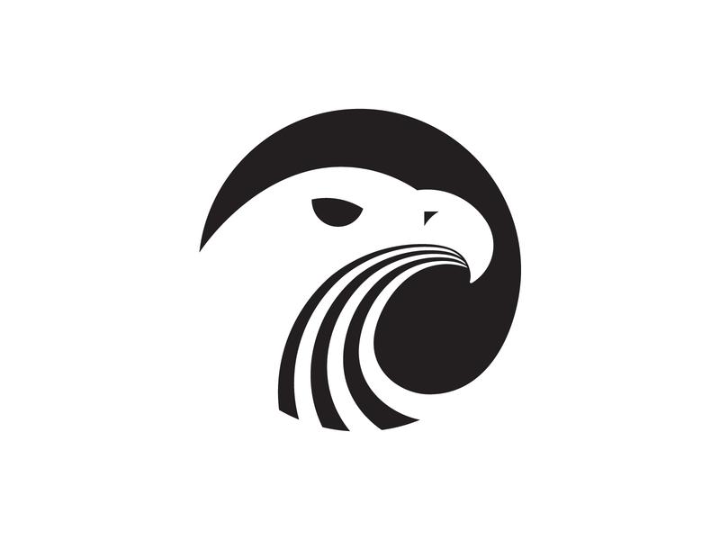 Eagle badge negativespace birds bird eagles eagle icon logo design flat vector