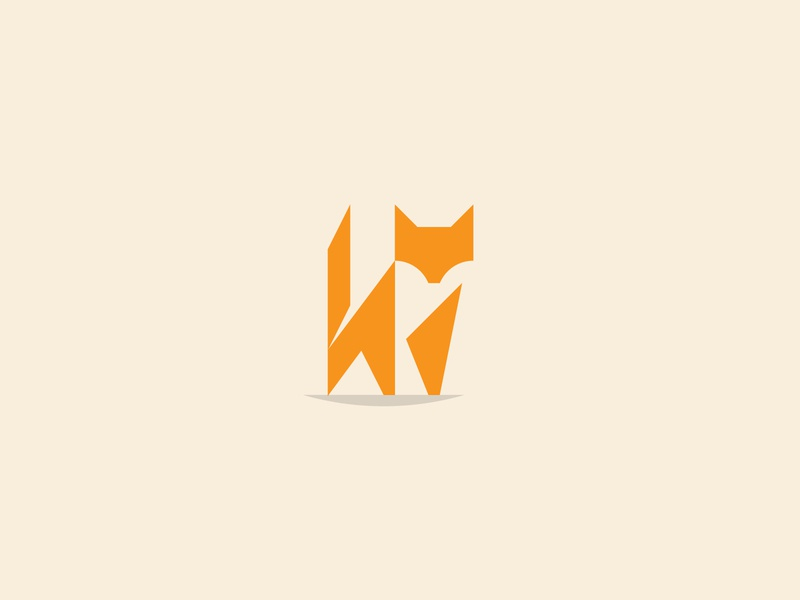 Fox negative space negativespace minimal foxes fox fox logo geometric branding icon logo design flat vector