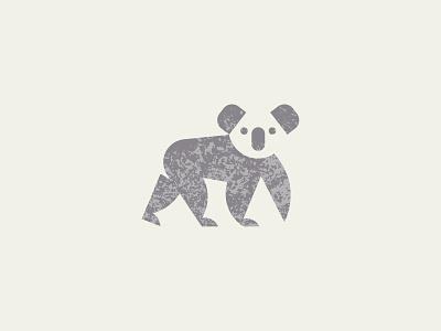 Koala koalas koala australia texture geometric branding icon logo design flat illustration vector