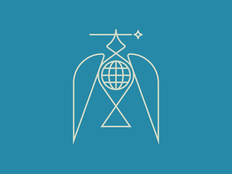World Peace doves birds bird wings earth world peace dove star icon logo design flat vector