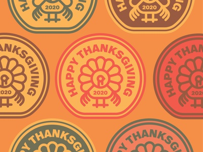 Thanksgiving Badges turkey day wings badgelogo birds thanksgiving crest badges bird turkeys turkey type badge geometric branding typography icon logo design flat vector