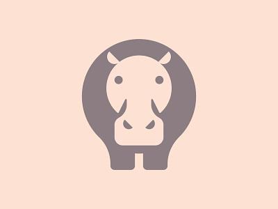 Hippo simple logo minimalist minimal animal geometric branding icon logo design flat vector hippopotamus hippo