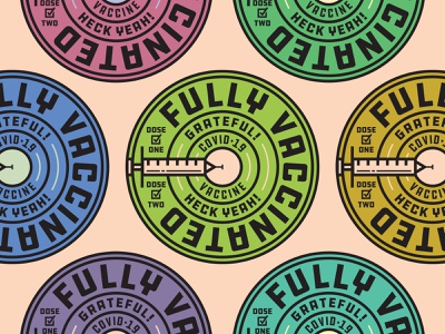 Fully Vaccinated type stickers sticker badgedesign badge logo covid-19 covid19 covid medical syringe needle badges badge logo vaccinated vaccine