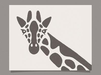 Giraffe print art pencil procreate hand drawn illustration ill design giraffes giraffe