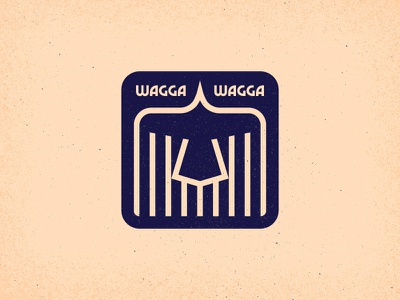 Wagga Wagga - Warm-Up #1 flat australia sticker texture geometric icon design typography vector bird wagga crows crow