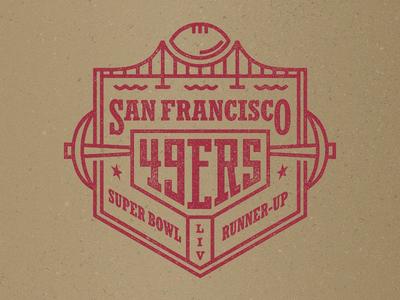 49ers geometric branding flat typography nfl superbowl axe pickaxe golden gate bridge football 49ers badge logo badge logotype logo san francisco