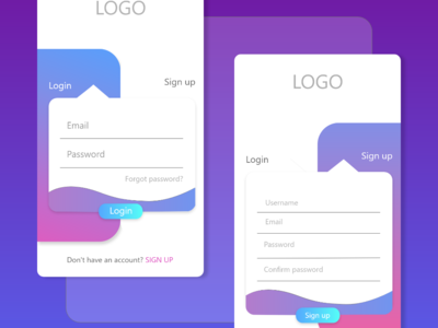 Random LogIn / SignUp Page username email activity button logopond android app design android app graphic ui elements art clean signup login android design uidesign app