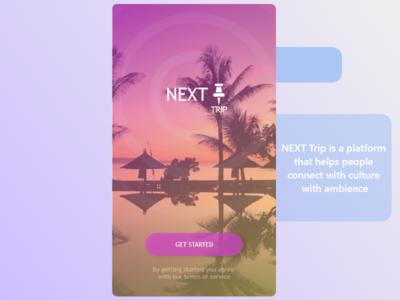 Next Trip - SingAvi art logo android app design uidesign app design app design button design android app xml splash screen location triple terms button get started splash trip android next