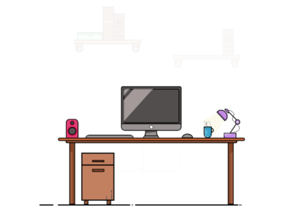 Comp Table Illustrations android app uidesign app design app design table design adobe xd xd adobe books housetable business laptop speaker table lamp student table computer illustration illustrator