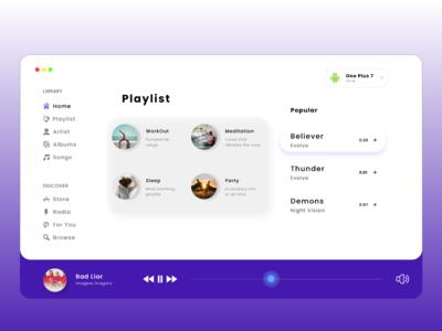 Musicio - Web playlists songs design logo art adobe motion adobexd music art uidesign webdesign web mobile minimal music player music