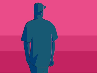 There it is pink mood character vector debut