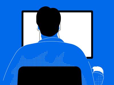 Screentime illustrator cc illustration vector computer work screen