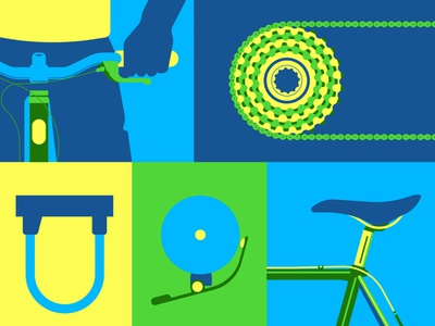 Bicycle illustraion illustrator vector summer ride bicycle