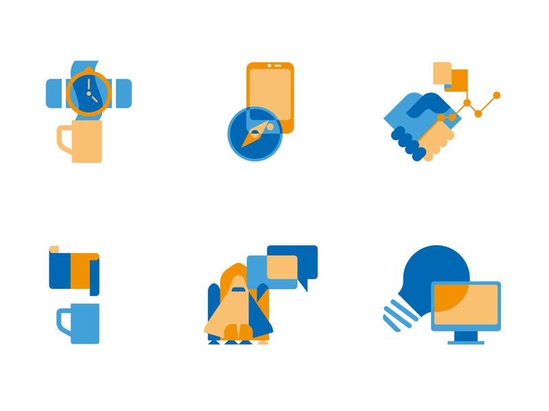 Cedus Iconcollage investor computer minimal 2d adobe startup vector digital illustration icon