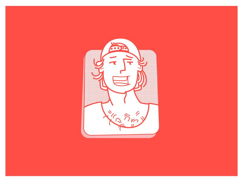 Selfportrait minimal character 2d illustrator vector selfie
