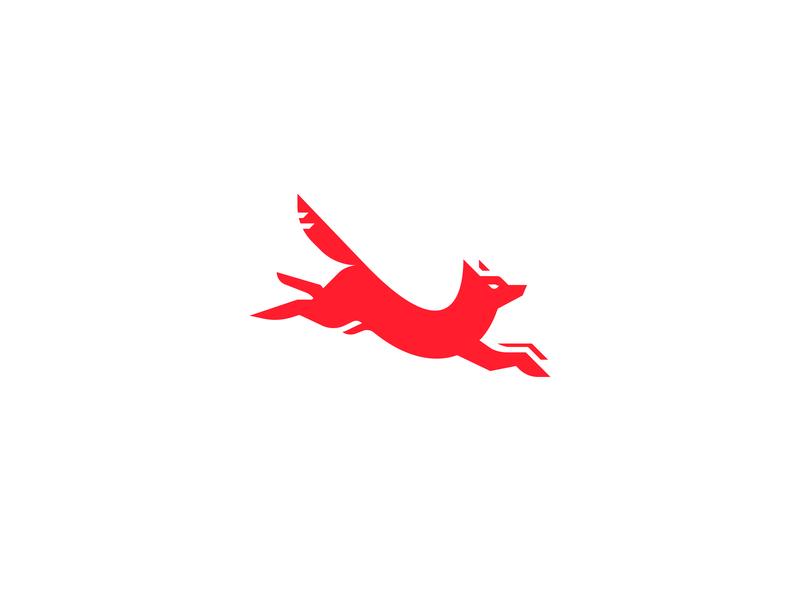 Fox illustrator sign icon vector logo