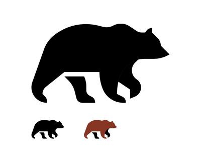 Brownbear minimal animal digital vector weekly warm-up icon