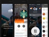 Redesign concept Soundcloud app