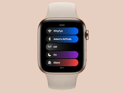 watchOS 8 Control Center Concept // Toggles concept control center apple watch apple