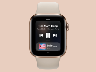 watchOS 8 Control Center Concept // Media concept control center apple watch