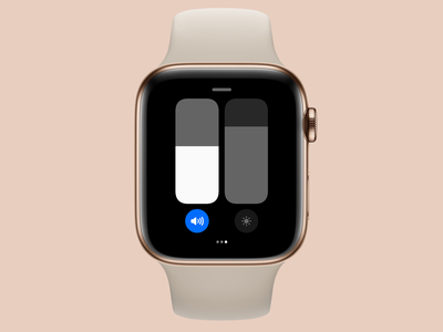 watchOS 8 Control Center Concept // Sliders concept control center apple watch apple