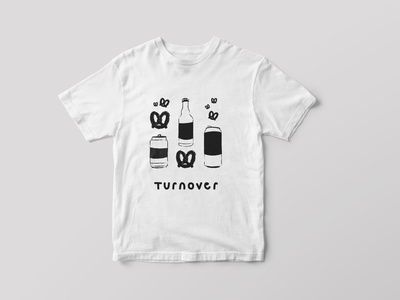turnover t-shirt submission turnover musician music band contest beer pretzels tshirt hand lettered hand drawn photoshop graphic design design illustrator illustration