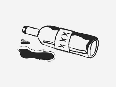 Alcohol black and white minimalist flat design illustration design spill digital art illustration art doodle graphic design illustrator alcohol illustration