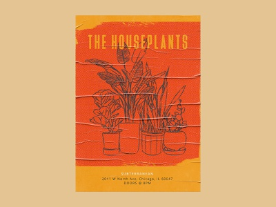 The Houseplants music art photoshop illustrator design illustration art digital illustration gig poster music illustration graphic design