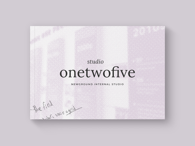 Promotional Booklet promotional material brand studio booklet halftone graphic design illustrator design