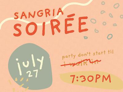 Sangria Soirée design halftone party pattern illustrator illustration texture graphic design invite invitation