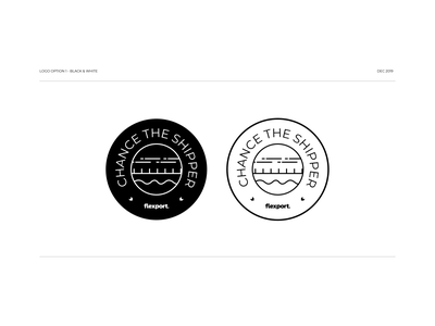 Chance the Shipper Logo concept design pitch logo pitch presentation abstract custom brand subbrand conceptual concept vector logo branding graphic design design illustrator