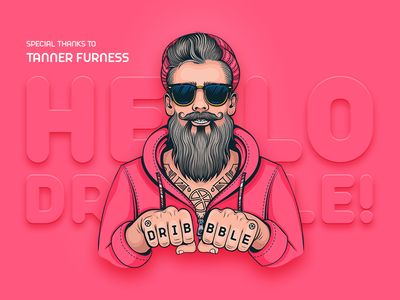 Hello, Dribbble! first shot thanks 2018 dribbble