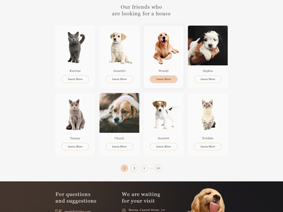 Shelter web ux ui animals 2018 template psd free freebie pet shelter