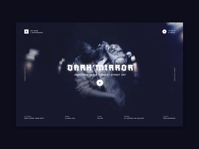Dark Mirror Show web ux ui mirror dark black show 2018