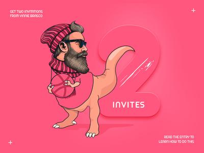 2x Dribbble invites (Completed) dribbble invite thanks chance debut invitation dribbble invite 2018