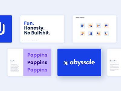 Abyssale Branding logo branding design poppins blue abyssale branding