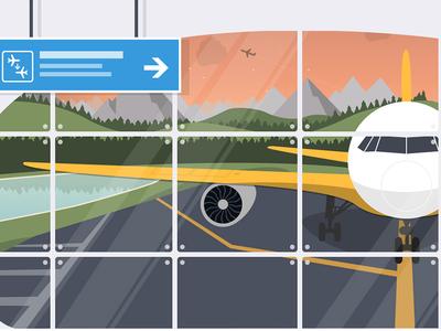 Mailjet airport illustration