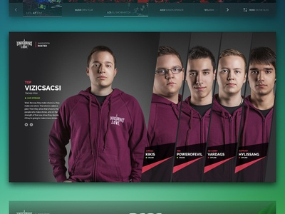 Unicorns of Love Website - Roster WIP uol league of legends website onepage unicorns of love esport roster