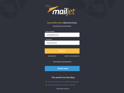 New Mailjet login page mailjet login signin emailing email